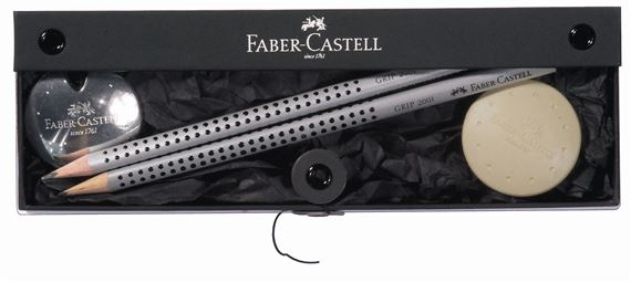 Faber-Castell UFO Gift Set #1 with 2 Pencils, Eraser and Sharpener