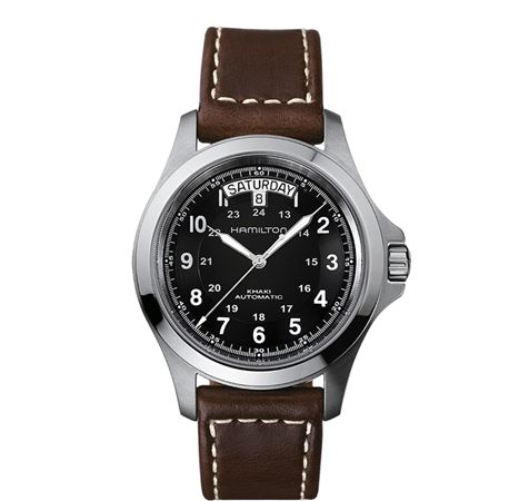 Hamilton Mens Khaki King Automatic Watch - Brown Band 40mm