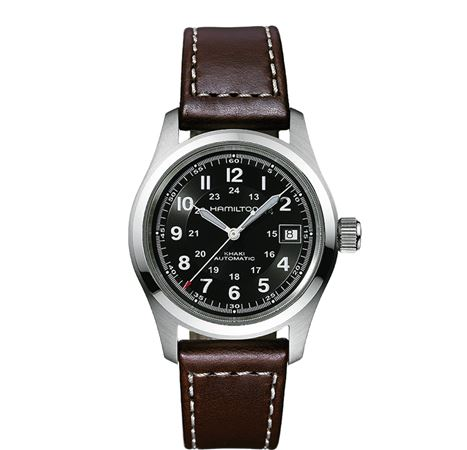 Hamilton Mens Khaki Field Automatic Watch - Brown Band 38mm