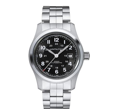Hamilton Mens Khaki Field Automatic Watch - Steel Band 42mm