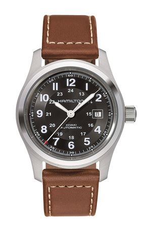 Hamilton Mens Khaki Field Automatic Watch - Brown Band 42mm