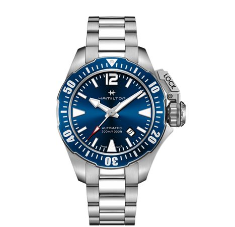 Hamilton Mens Khaki Navy Frogman Automatic Watch