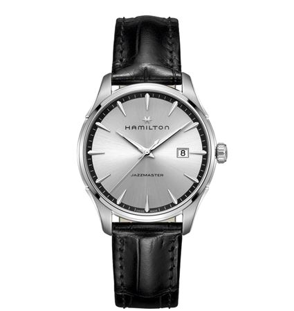 Hamilton Mens Jazzmaster Gent Quartz Watch - Black/Silver