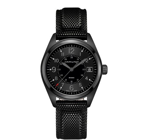 Hamilton Mens Khaki Field Quartz Full Black Watch
