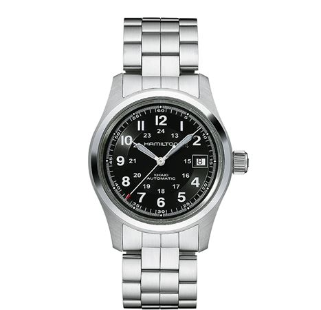 Hamilton Mens Khaki Field Automatic Watch - Steel Band 38mm