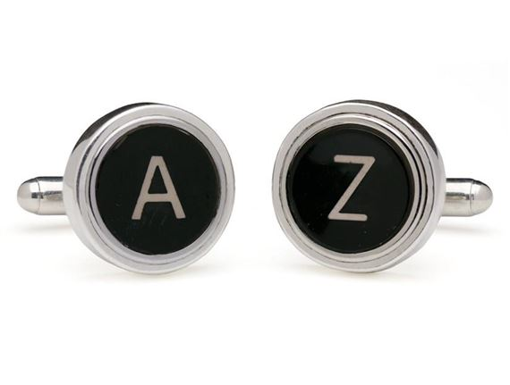 Tokens and Icons Vintage Typewriter Key Cufflinks