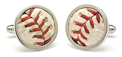 Tokens and Icons Baseball Stitch Cufflinks