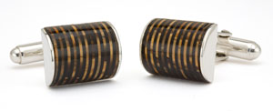 Tokens and Icons Vacumatic Barrel Cufflinks