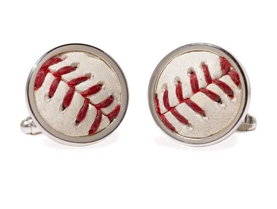Tokens and Icons MLB Game-Played Baseball Team Cufflinks
