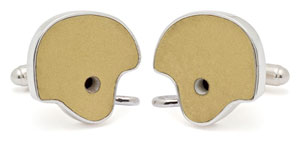Tokens and Icons Notre Dame Helmet Cufflinks