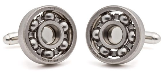 Tokens and Icons Ball Bearing Cufflinks