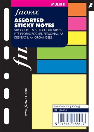 Filofax Pocket Assorted Sticky Notes
