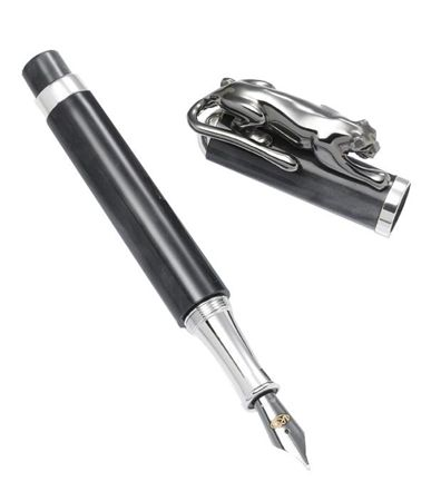Urso Luxury Sterling Silver Black Panther Rollerball Pen