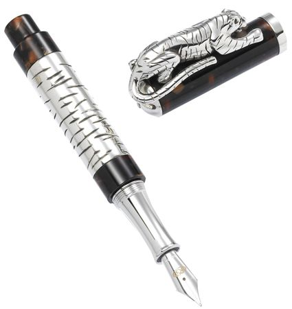 Urso Luxury Sterling Silver White Tiger Rollerball