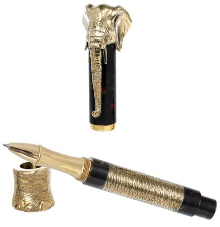 Urso Luxury Bronze Elephant Rollerball Pen
