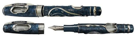 Visconti Limited Edition Dance of Time I Blue & Silver Fountain Pen