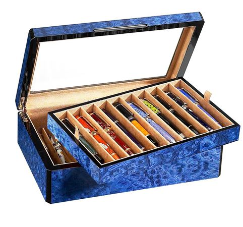 Venlo Blue Collection 20 Slot Pen Box
