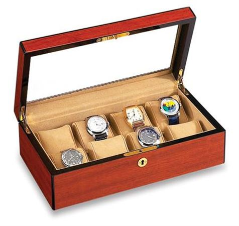 Vox Luxury 8 Watch Case with Glass Top