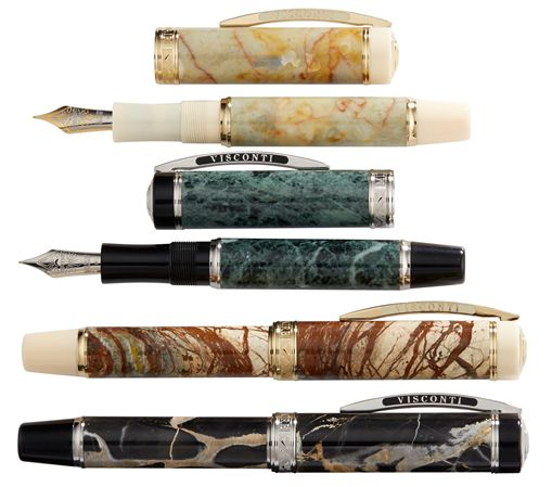 Visconti Limited Edition Millionaire Marble Fountain Pen / Rollerball