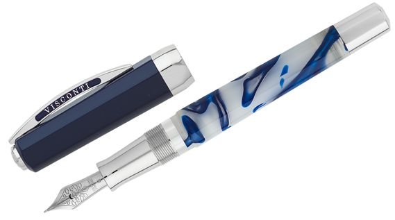Visconti Limited Edition Opera Master Blue Swirl Fountain Pen