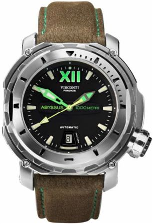 Visconti Full Dive Abyssus Watch Steel Silver