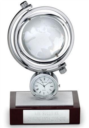Glass Globe Clock