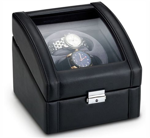 Leather Watch Winder - Double Slot
