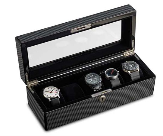 Lacquer Carbon Fiber Five-Slot Watch Case