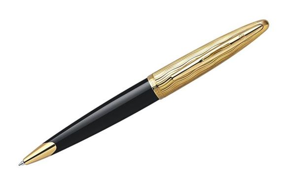 Waterman Carene Essential Black With Gold Cap Ballpoint Pen