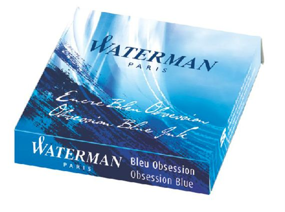 Waterman Limited Blue Obsession Ink International Size Cartridges 6/Pack