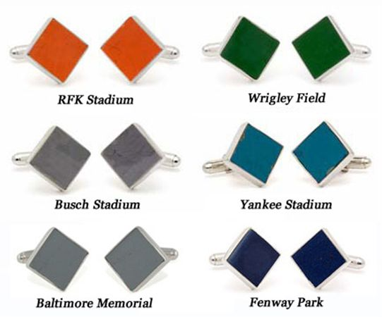 Tokens and Icons Ballpark Stadium Seat Cufflinks