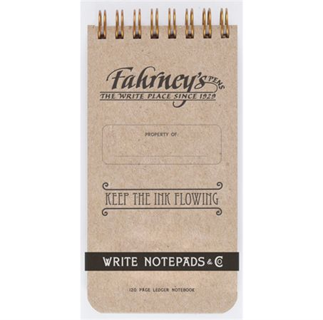 Write Notepads Fahrney's Exclusive 3 x 6 Ledger Notebook 2/Pack