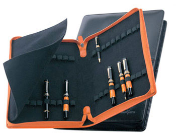 Delta Markiaro 40 Slot Leather Pen Collector's Case