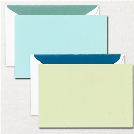 Crane Write Now Aqua/Willow Card Set