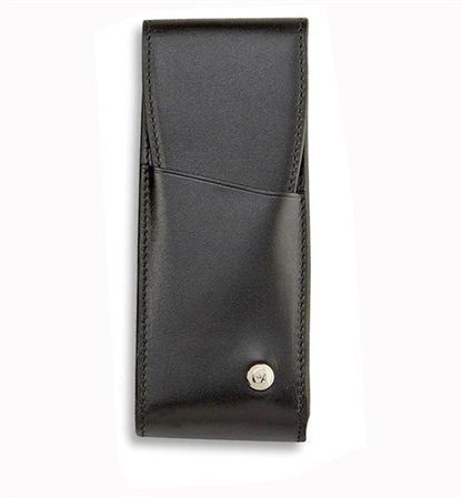 Caran d'Ache 3 Slot Black Leather Pen Case