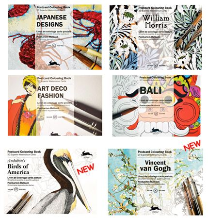 Pepin Artists' Coloring Postcards
