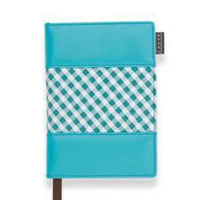Cross Small Gingham Journal - Purple