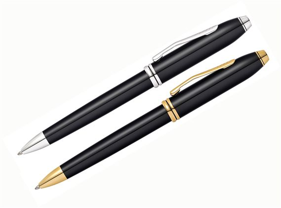 Cross Townsend Black Lacquer Ballpoint Pen
