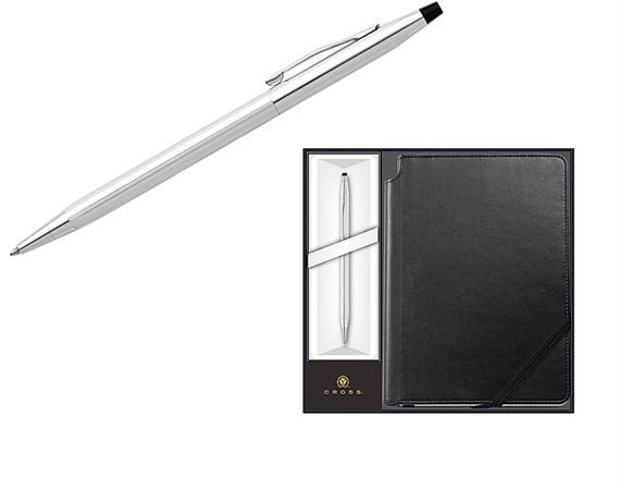 Cross Click and Journal Pen Set - Chrome