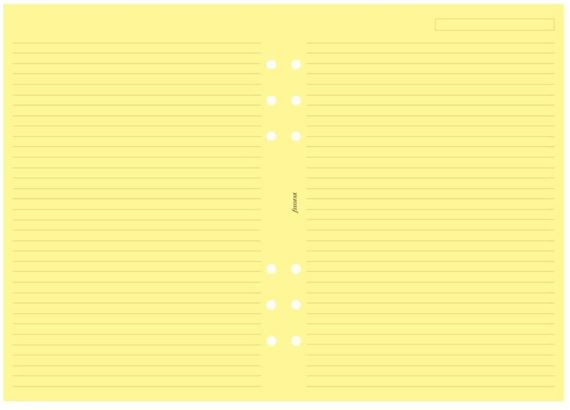 Filofax A5 Ruled Yellow Sheets