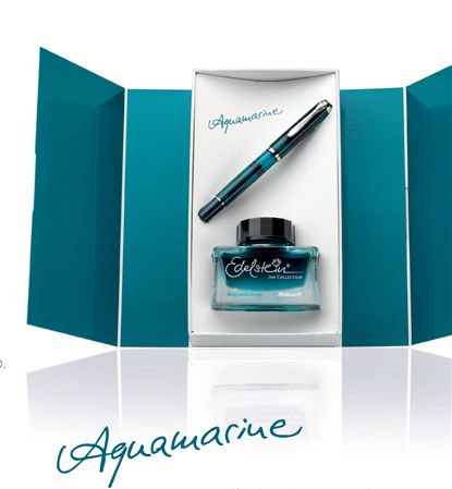 Pelikan Classic M205 Aquamarine Pen/Ink Set
