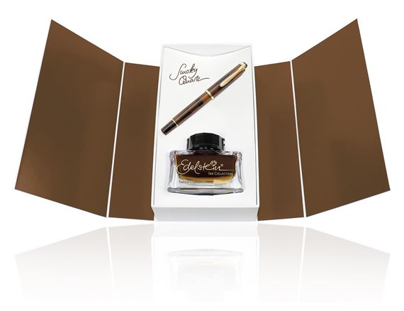 Pelikan Classic M200 Smoky Quartz Fountain Pen Gift Set Special Edition