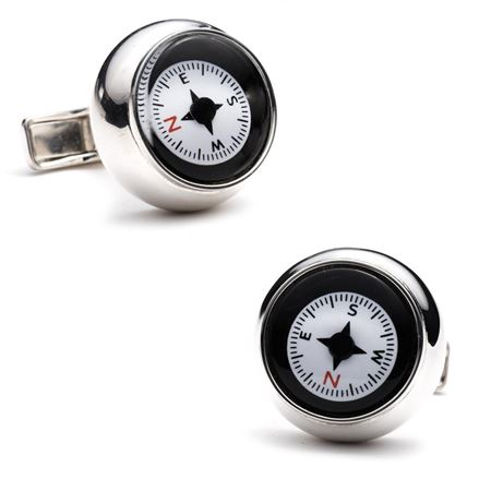 Sterling Compass Cufflinks
