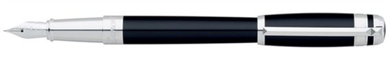 Dupont Line D Placed Rings Chinese Lacquer Fountain Pen