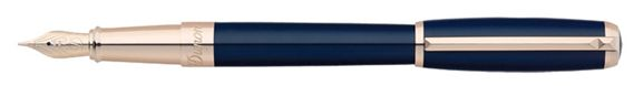 Dupont Line D Blue Lacquer Fountain Pen