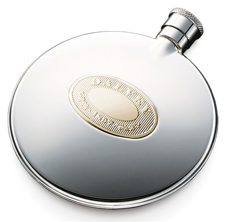 Dalvey Stainless/Gold Classic Compact Flask