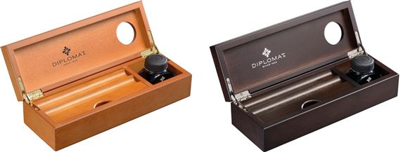 Diplomat Wood Desk Equipment Box with Ink
