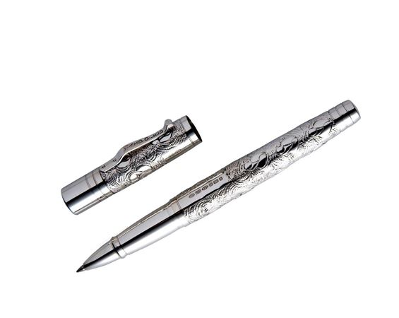 Yard-O-Led Grand Victorian Engraved Sterling Silver Rollerball Pen