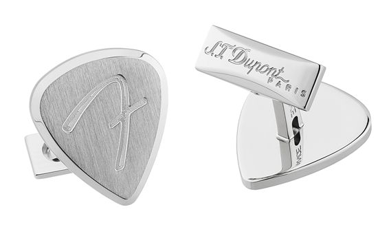 Dupont Fender Guitar Pick Cufflinks