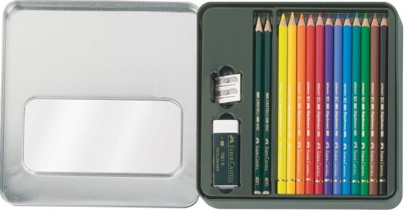 Faber-Castell Polychromos Color Pencils Tin Set